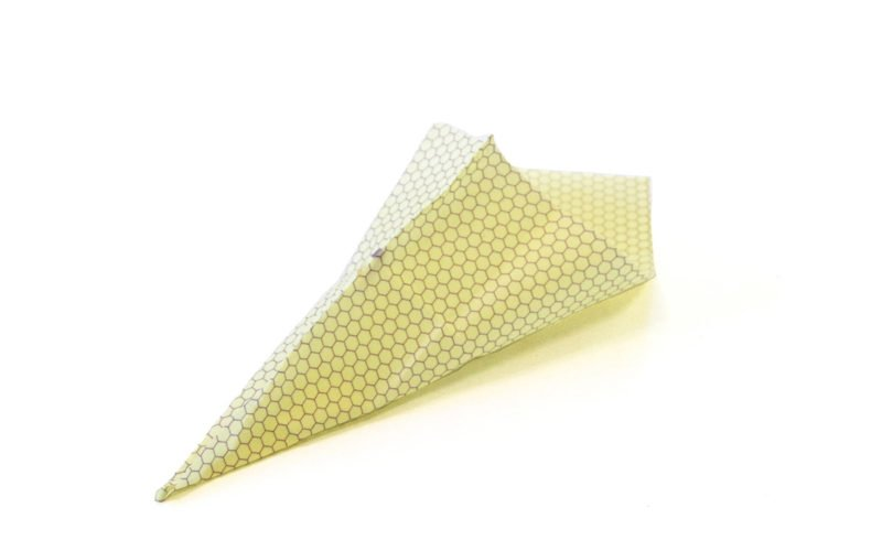 beeskin folded into a pouch